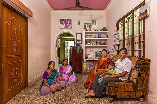 Project 365 is an initiative by Ekalokam Trust for Photography that collectively creates and preserves photographic visuals of the fast vanishing culture, lifestyle, landscape of South Indi. The first phase of the Project was organized at Tiruvannamalai, an ancient town in Tamil Nadu. The second phase of the project will create visuals of the ancient tri-sangam ports Tyndis, Muziris and Korkai. The third phase of the project will create visuals of the Cauvery River and its surrounding river valley civlisation. The project 365 Tiruvannamalai (August 2014 – August 2015) with more than 25 photographers has been successful in capturing visuals of the fast vanishing culture and lifestyle of this ancient town.The year-long project has visually recorded the Annamalai hill and the circumambulatory fourteen kilometre road that continue to keep alive a millennia-old Saiva tradition throughout the year. The public photo-art archive has a collection of about 3000 photographic images of Tiruvannamalai. Each contributing photographer has worked on their individual projects using diversified traditional and modern photographic techniques and processes. Project 365 is led by contemporary Indian photographer Abul Kalam Azad. This images are contributed by Project 365 photographer Ami Gupta using 35mm digital camera. Series - Living Rooms
